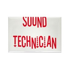 Sound Technician Rectangle Magnet