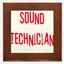 Sound Technician Framed Tile