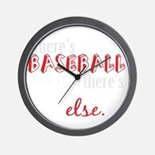 baseball then eleverything else_dark Wall Clock
