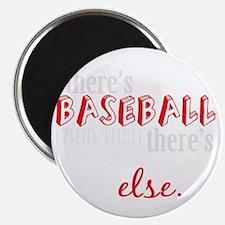 baseball then eleverything else_dark Magnet