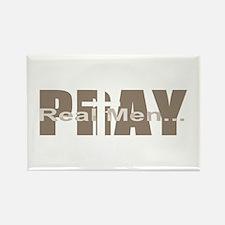 Real Men Pray - Sable Rectangle Magnet