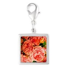 persian roses 3 v Silver Square Charm