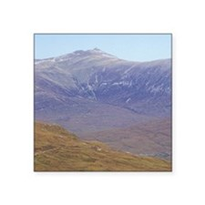 "Highlands. Hikers on the We Square Sticker 3"" x 3"""