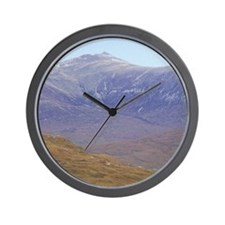 Highlands. Hikers on the West Highland  Wall Clock