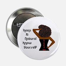 Afro-Beautiful Woman Button