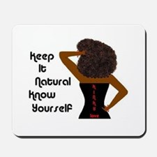 Afro-Beautiful Woman Mousepad