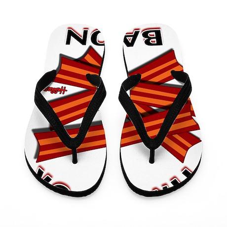 time for bacon Flip Flops
