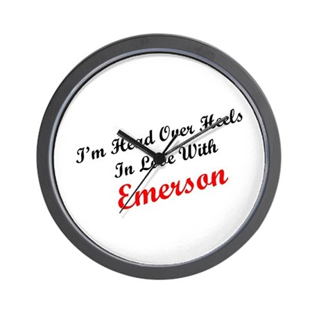 In Love with Emerson Wall Clock