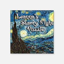 "Leannas Square Sticker 3"" x 3"""