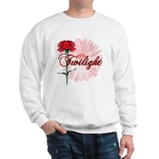 twilight with pink flower and red carna Sweatshirt