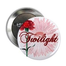 """twilight with pink flower and red car 2.25"""" Button"""