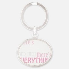 dancing then eleverything else_dark Oval Keychain