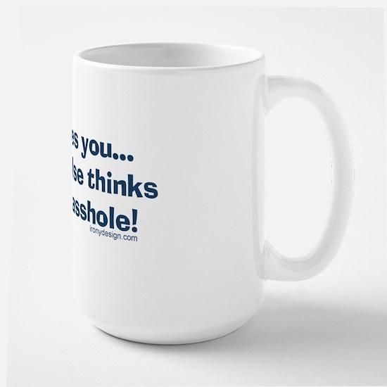 jesuslovesyouassholeBUMPER Large Mug
