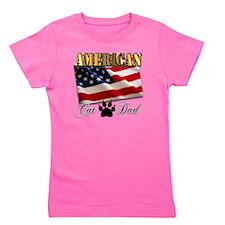American_CatDad Girl's Tee