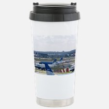 Airliners on the runway at Lond Travel Mug