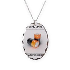 Batteries Necklace Oval Charm