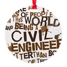 civil_engineer_two_brown Ornament
