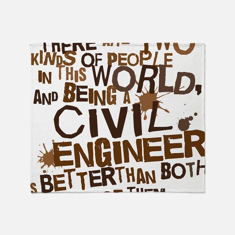 civil_engineer_two_brown Throw Blanket