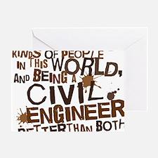 civil_engineer_two_brown Greeting Card