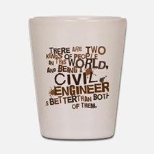 civil_engineer_two_brown Shot Glass