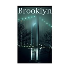 Verrazano Bridge, Night, Bay Sticker (Rectangular