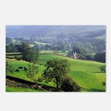 The gentle, green hills o Postcards (Package of 8)