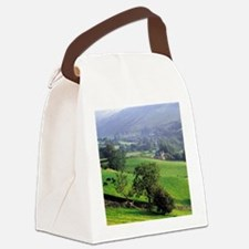 The gentle, green hills of Grasme Canvas Lunch Bag