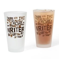 writer_two_brown Drinking Glass