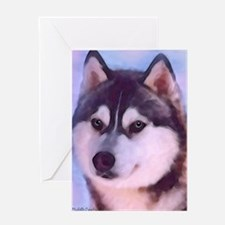 husky Greeting Card