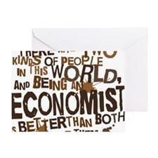 economist_two_brown Greeting Card
