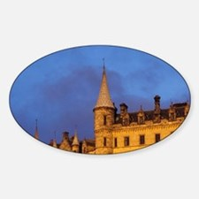 Dunrobin Castle, Scotland Sticker (Oval)