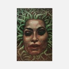 Medusa Face Rectangle Magnet