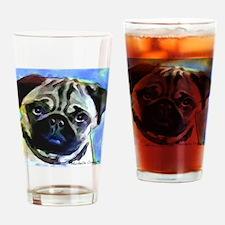 Pug12 Drinking Glass