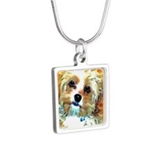 Cockapoo Silver Square Necklace