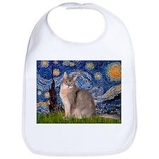 Starry / Blue Abyssinian cat Bib