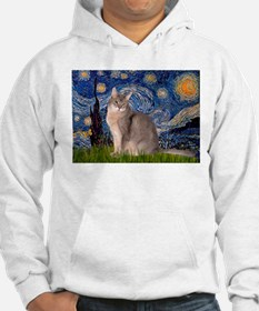 Starry / Blue Abyssinian cat Hoodie