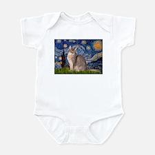 Starry / Blue Abyssinian cat Infant Bodysuit