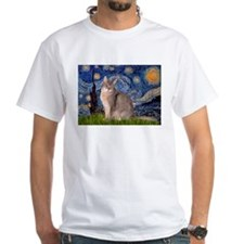 Starry / Blue Abyssinian cat Shirt