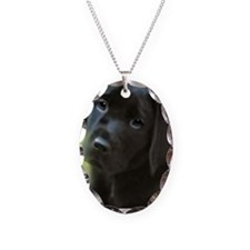 BlackLabPuppy2006 Necklace Oval Charm