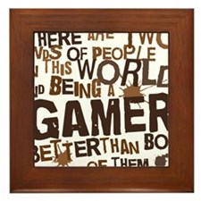 gamer_two_brown Framed Tile