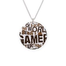 gamer_two_brown Necklace