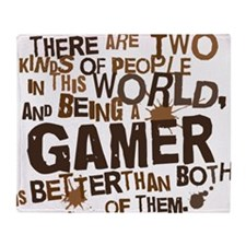gamer_two_brown Throw Blanket
