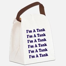 Im A Tank - Blue Canvas Lunch Bag