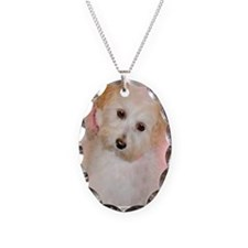 Maltipoo Necklace Oval Charm