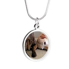 ScoutBudSnoozing Silver Round Necklace