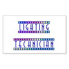 Lighting Technician Rectangle Decal