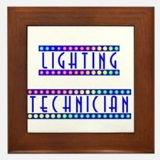 Lighting Technician Framed Tile
