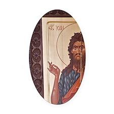 Serbian Orthodox Christian iconogr Oval Car Magnet