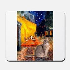Cafe & Blue Abbysinian Mousepad