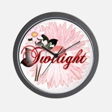 twilight pink magic flowers by twidaddy Wall Clock